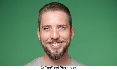 young hipster man smiling