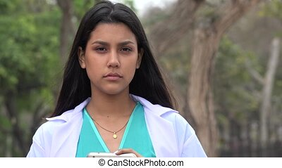 Young Hispanic Female Nurse
