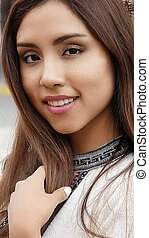 Young Hispanic Pretty Woman