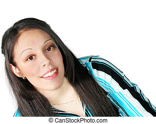 Young Hispanic Woman - Pretty young Hispanic woman portrait