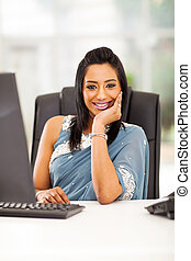 young indian businesswoman in office
