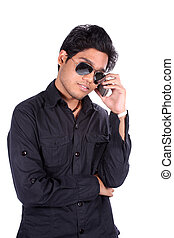 Young Indian Man on Phone