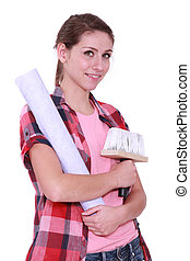 Young interior designer