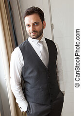 Young Italian groom before marriage - Young Italian groom...