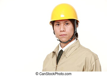 young Japanese construction worker