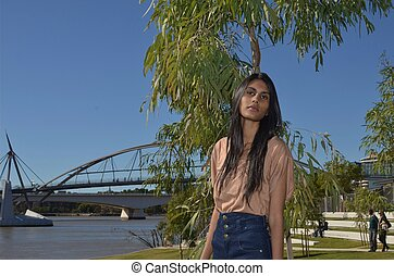 Young lady at South Bank