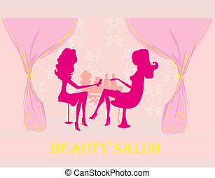 manicure in beauty salon