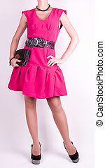 Young lady in pink dress