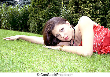 Young lady relaxing