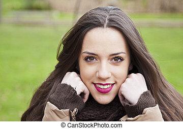 young latina girl