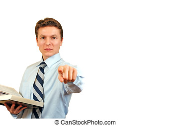 Young lawyer accusing - Business man trying to impose ,...