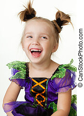 Young little girl laughing