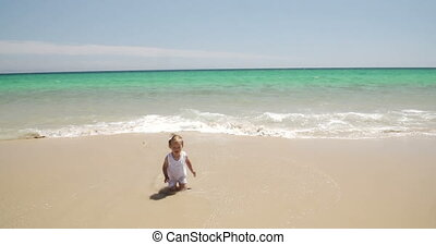 Young Little Girl on the Beach