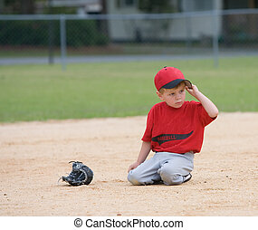 Young Little League Player - Young little league player...