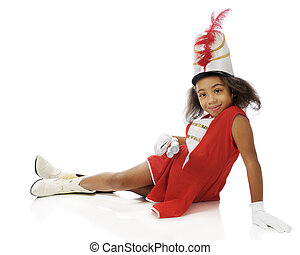 Young Majorette at Rest