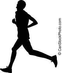 young male athletic runner