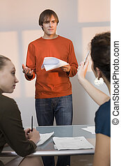 Young Male Auditioning for Acting Role - Young male...
