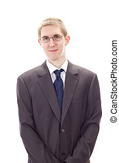 Young male business person representing business concern