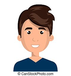 Young male cartoon design, vector illustration. - Young male...