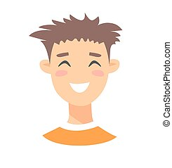 Young male character. Cartoon style