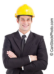 young male construction manager