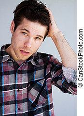 young male model headshot