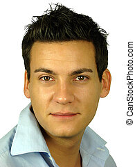 Young Male Model - Male model with mediterranean skin tone...