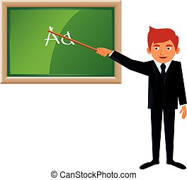 Young male teacher vector