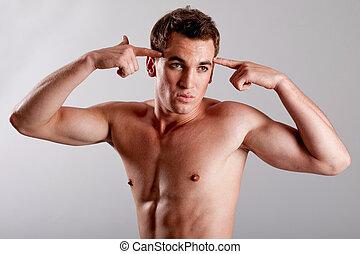 Young male underwear model