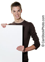 young man a wake empty poster