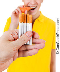 Young Man and Cigarettes