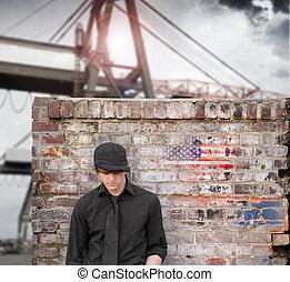 Young man at sea