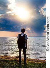 Young Man at Seaside