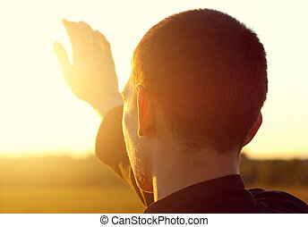 Young Man at Sunset