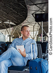 young man at the airport