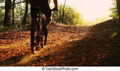 Young man cyclist to riding a bicyc