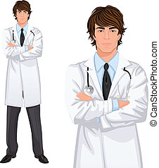 Young man doctor - Young handsome male medicine doctor ...