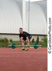 Dead Lift Exercise Outdoor