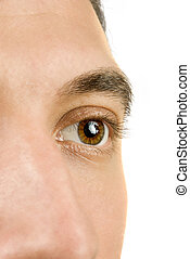 Young man eye