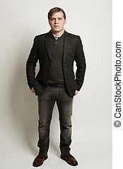 Young man, fashion portrait