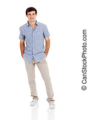 young man full length portrait - young man full length...