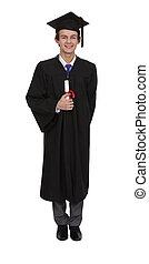 young man graduating