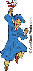 Young Man Graduation - Happy Young Man Graduating With ...
