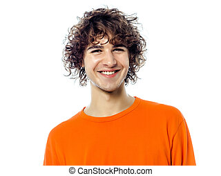 young man handsome smiling portrait