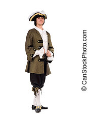 Young man in a historical costume