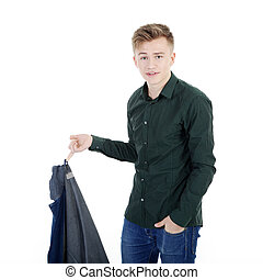 young man in fashion