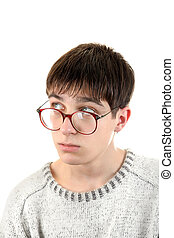 Young Man in Glasses