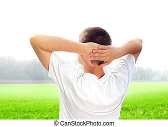 Young Man in the Field