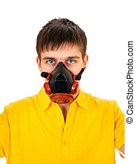 Young Man in the Gas Mask