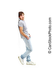 young man isolated on white background